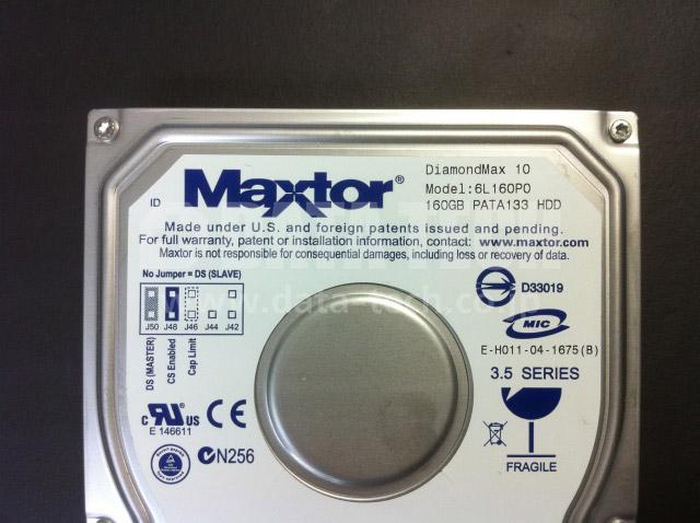 HDDは、Maxtor製 160GB